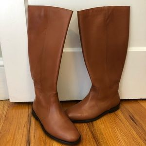 J Crew leather riding boots in chestnut